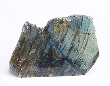 JIC Gem Healing Labradorite Upright Stone Gemstone Worry Therapy Crystal Point Reiki Stone Home and Office Decor 1-2 lb