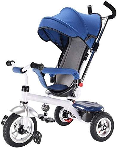 Pushchairs kindertrikes 4-in-1 ouder duwen driewieler voor kinderen verstelbare hoogte duwen rit driewieler wandelwagen trike cabrio met verstelbare stoel baby producten