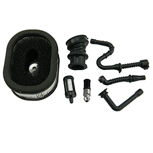 Hipa Air Filter + Fuel/Oil Line Filter + Impulse Line + Intake Manifold Boot for Still 044 046 MS440 MS460 Chainsaw