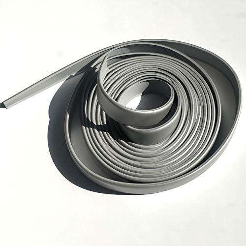 5A16 Cubrecanto de plástico flexible en U (umolding) (16 mm., ALUMINIO). Tira de 5 metros.
