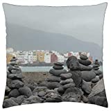 MAY-XCustom Fundas para Cojine,Tenerife Spain Island Sea Vacation Rock Europe Fundas De Cojín, Fundas De Cojín Florales para El Dolor De Cuello,45x45cm