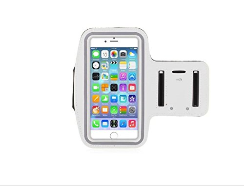Universal Smart Phone Arm band case for Gym or Running (Silver)