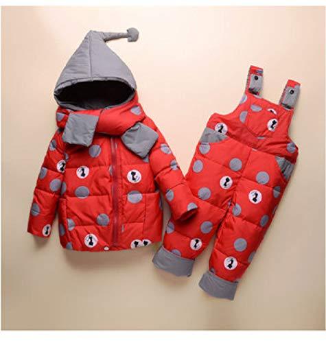 ski pak JSGJHXFBoy Meisje Winter Set Kids Kwaliteit Witte Gans Inhoud 95% Peuter Casual Hooded Jas Baby Warm NIEUWE Kleding Baby Ski pak