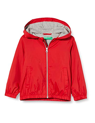 Benetton Giubbino Abrigo, Rojo (Rossol 015), 152 (Talla del fabricante: El) para Niños