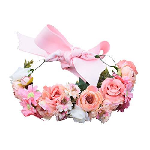 ABOOFAN Margarita corona para el pelo de boda, flor, tocado de novia,...