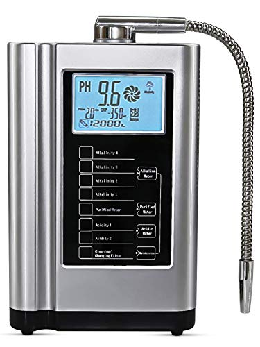AquaGreen Alkaline Water Ionizer Machine AG7.0, PH 3.5-10.5 Water Purifier, Multifunctional Water Filtration System for Home, Up to -500mV ORP, 6000L Per Filter, Smart Voice, Auto-Cleaning, Silver