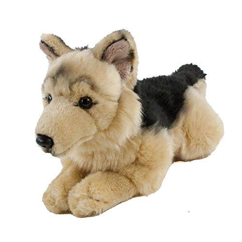Teddys Rothenburg Kuscheltier Schäferhund 30 cm (mit Schwanz) liegend braun/schwarz Plüschschäferhund