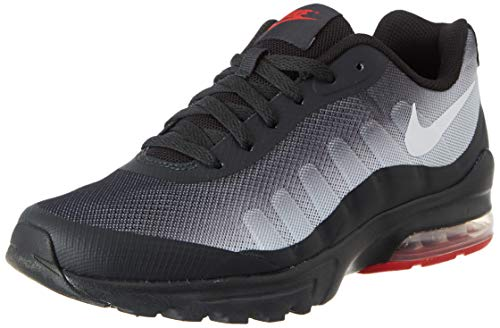 Nike Herren Air Max Invigor Running Shoes, Off Noir/White-Sky Grey-University Red, 42 EU