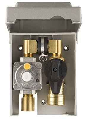 Burnaby Manufacturing G0101-2# Gas Plug 2# Gas Outlet Box with 1/2-Inch Inlet and 3/8-Inch Outlet, PVC Enclosure