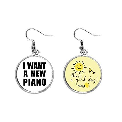 I Want A New Piano Art Deco Geschenk Mode Ohrtropfen Sonne Blume Ohrring Schmuck Mode