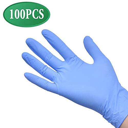 ZLofe 100PCS Nitril-Einweghandschuhe, Handschuh für den Umgang mit Lebensmitteln, antiallergische, verschleißfeste geeignet für die industrielle Haushaltsreinigung Handschuhe,M