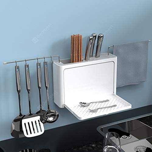 5-in-1 Küche Wand Montiert Große Kapazität Drain Lagerregal
