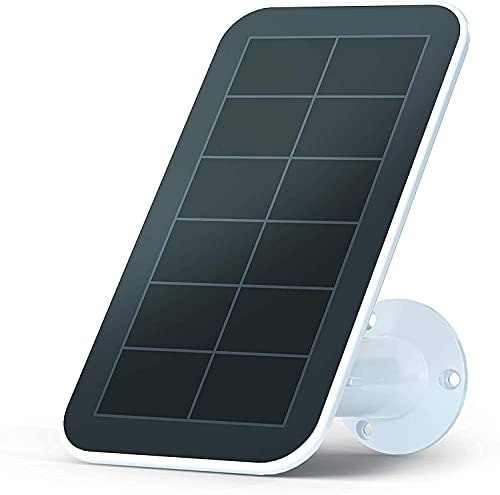 Arlo Certified Accessory - Solar Panel Charger (2018 Released) for Arlo Ultra, Ultra 2, Pro 3, Pro 4 and Pro 3 Floodlight Cameras, Weather Resistant, 8 ft Power Cable, Adjustable Mount, White-VMA5600