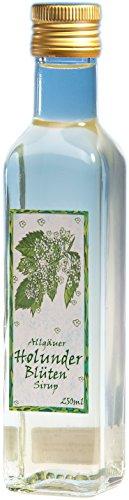 Holunderblüten Sirup aus dem Allgäu   250ml Getränkesirup für Mineral-Wasser   Vegan ohne künstliche Süßstoffe