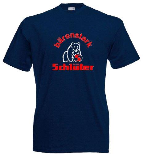 Schlüter T-Shirt, Größe L, Navyblau