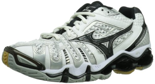 Mizuno Women's Wave Tornado 8 Volleyball Shoe,White/Black,11.5 M US