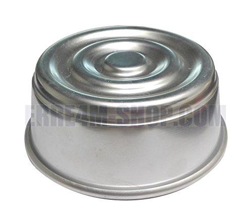Molde para pudín de aluminio, diámetro 12 x 4,5 (alt.) cm