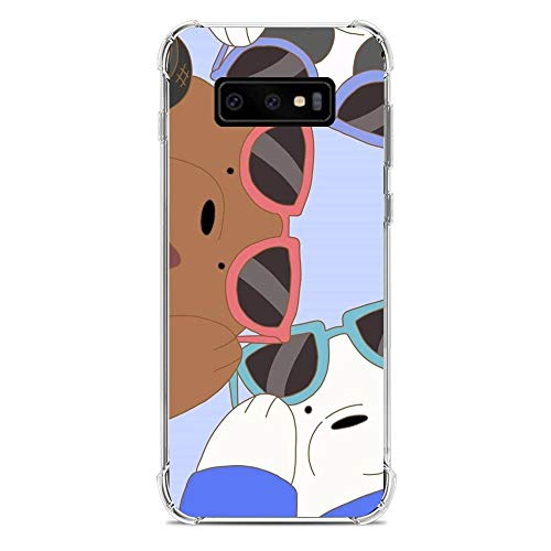 We Bare-Bear Animated 1 Clear Soft TPU Liquid Shell Protective Phone Case Cover for Samsung Galaxy S10e