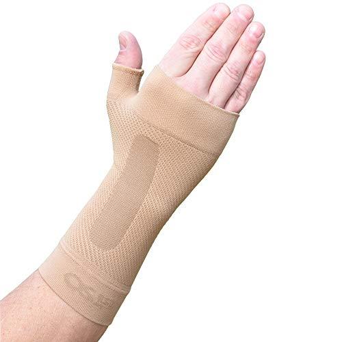 Orthosleeve WS6 a compressione graduata - Tutore per il polso allevia il dolore del tunnel carpale, artrite, rizoartrosi, gonfiore - Fascia contro infiammazioni, tendinite e distorsioni del polso - Taglia M (Naturale)