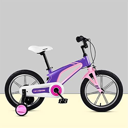 Bicicleta niño Bicicleta Infantil Niños niños for bicicleta, muchachos de las niñas pedal de la bicicleta de aleación de magnesio de la bicicleta con ruedas de entrenamiento for 3-8 años 14inch, 16inc