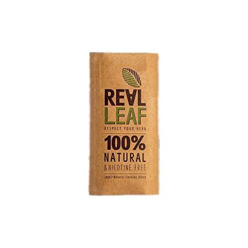 Real Leaf Natural Blend (1x 30g) - Natürliche Kräutermischung - Tabakersatz - 100{6a68212e40e7cddce5c225572ebe2c9919db7c9b3641547dcd02ebe1169e2c8e} Nikotinfrei und ohne Tabak