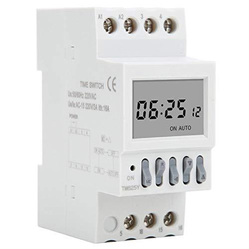 EVTSCAN último TM625Y temporizador de ciclo anual relé interruptor de encendido temporizador carril Din 12 encendido 12 apagado AC220V