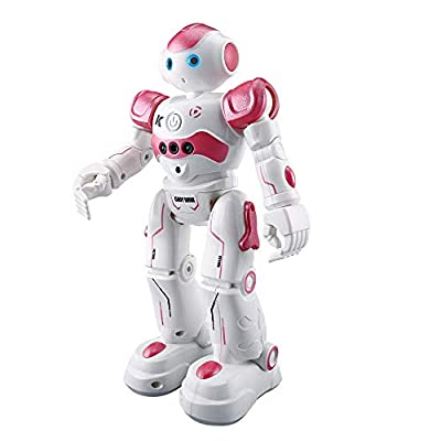 Tronet Smart Robot Lawrence - RC Robot Toy - Intelligent Robot Multi-Function Charging Children's Toy Dancing Remote Contro - for Kids Gift (Pink A)