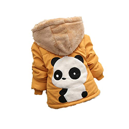 Guy Eugendssg Infant Coat Autumn Winter Baby Jackets for Baby Boys Jacket Kids Warm Outerwear Coats Yellow2 3M