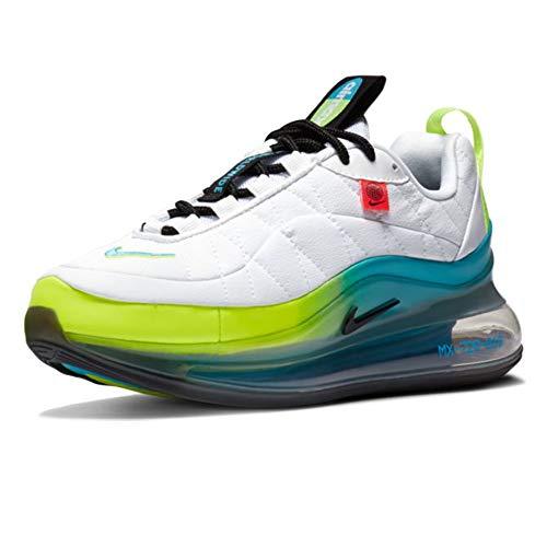 Nike Mx-720-818 (GS), Scarpe da Corsa Boys, White/Black-Blue Fury-Volt, 37.5