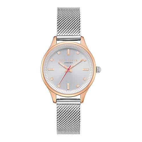 Ted Baker Reloj Analógico para Mujeres de Cuarzo con Correa en Acero Inoxidable TE50650003