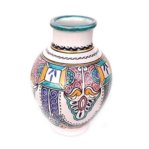 Marokkanische Vase Bunt   Orientalische Vasen und Dekogegenstände  Orientalische Dekoration   Dekoartikel aus dem Orient