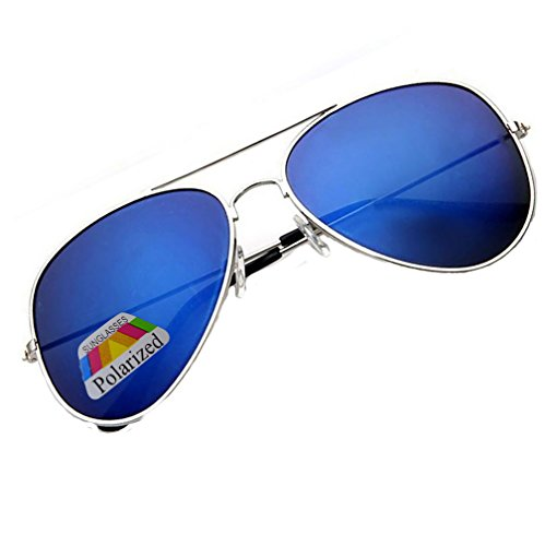 4sold Klassische Unisex Polarisierte Sonnenbrille in vielen Farbkombinationen (Blau)