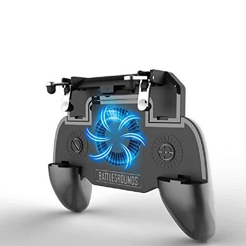 ZIYUME PUBG Controlador de Juegos Móvil con Refrigerador, PUBG Mobile Game Controller, Disparadores Móviles, Joystick Móvil, Batería Recargable de 2000maH, para 4-6.5 pulgadas de Android/Teléfonos