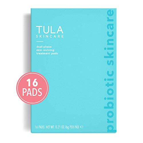 TULA Skin Care Instant Facial Dual-Phase Skin Reviving Treatment Pads - Instant Facial Pads, Smooth and Brighten Skin, 16 pads