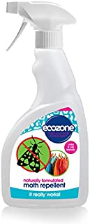 Repelente de polillas de Ecozone, de 500 ml, fórmula natural, protección de larga duración, ap...