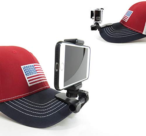 Octo Mounts – Sports Mount. Baseball Hat and Backpack Strap Smartphone or Camera Holder. Compatible with Smartphones and GoPro Style Cameras.