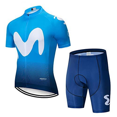 Ropa Ciclismo Verano Hombre Equipacion con 3D Acolchado De Gel, Desecación Traje Ciclismo Maillot Ciclismo + Pantalon Bicicleta para Ropa Ciclista MTB