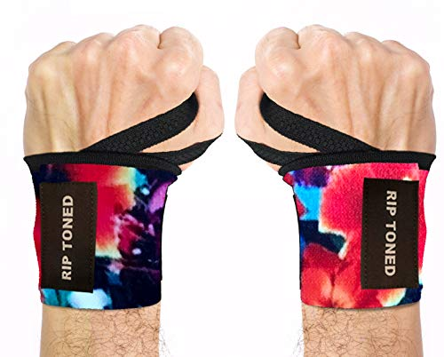 Rip Toned Wrist Wraps With Thumb Loop