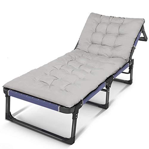 WJJJ Stuhl Klappbarer Campingstuhl Purple, Gartenstuhl, Gartenbett, Zustellbett, Sonnenliege aus wetterbeständigem Stoff (Farbe: Stuhl + Kissen 2)