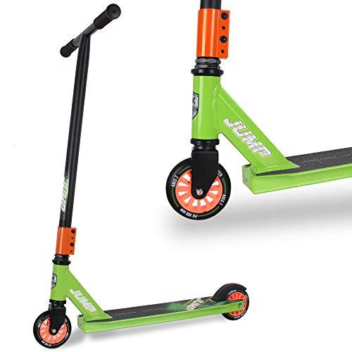 WeLLIFE Patinete Freestyle Stunt Scooter Jump apto para niños y jóvenes, rueda de 100 mm, rodamientos ABEC 7, manillar de rotación 360, plataforma reforzada.
