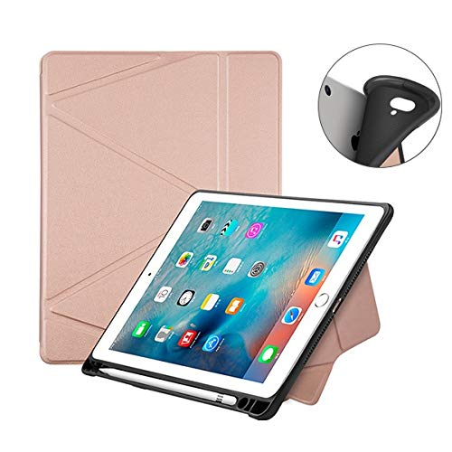 RZL PAD & TAB cases For Ipad 9.7 2018, Auto Sleep and wake TPU Case for Ipad 2018 9.7 inch (Color : Rose gold origami)