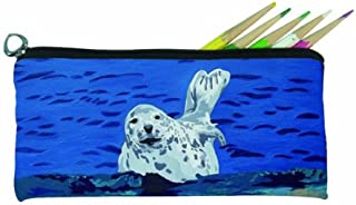 Salvador Kitti Small Pencil Bag (Seal - Playful Pup)