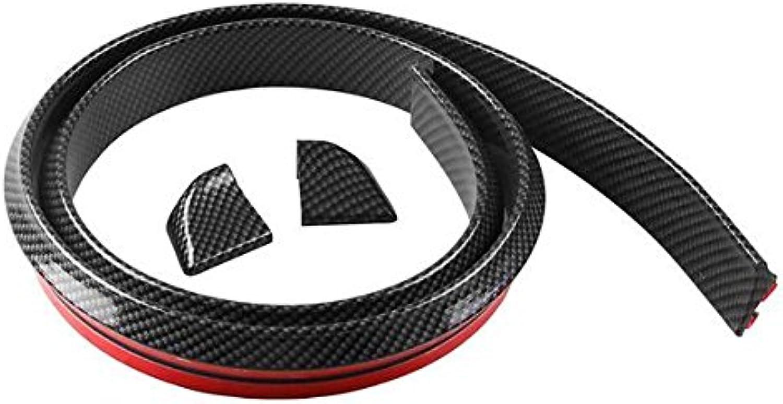 CoCocina Universial 1.5M4CM Rubber Carbon Fiber Car Bumper Strip Predector Sticker for Bumper Lip Kit