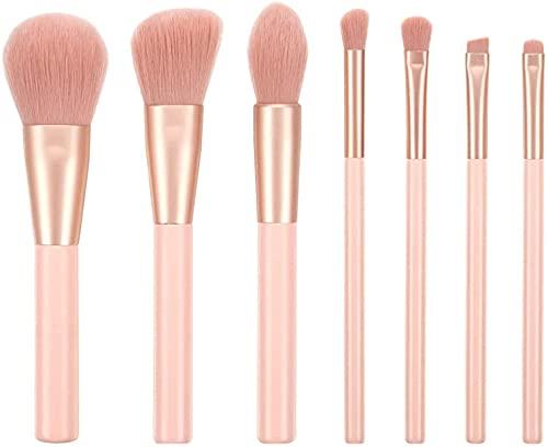 Shading Pinceles de maquillaje Macaron Color Beauty, 7 herramientas de belleza, pincel para sombra de ojos, pincel para cejas.