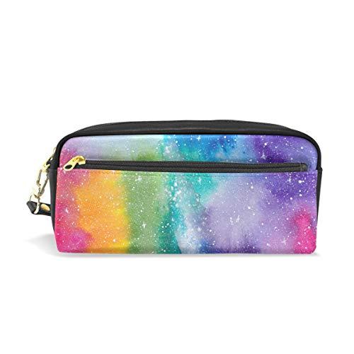Mnsruu Trousse, Rainbow Galaxy Grande capacité Pen Sac Maquillage Outil Sac avec compartiments pour filles garçons