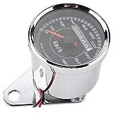 Hlyjoon Velocímetro de motocicleta GPS LED Visión nocturna Odómetro digital Aleación de aluminio 12V Medidor de milla Moto Moto 65 * 50mm/2.6 * 2.0in para ATV Motorcycle Marine