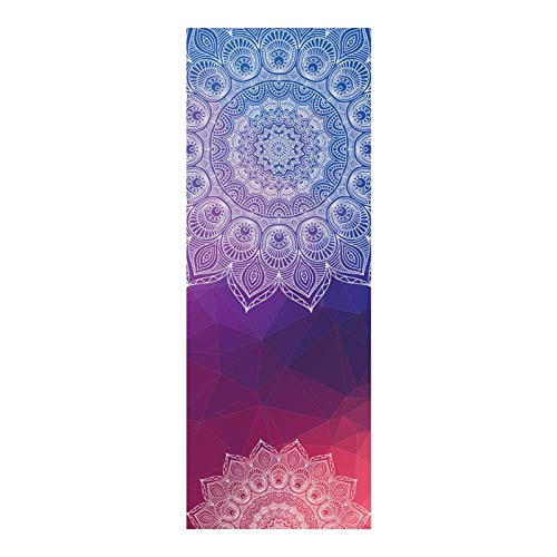 bozitian Esterilla de yoga, toalla de mano, toalla de fitness, suave microfibra, práctica sin esquinas, pilates, doble cara, antideslizante, absorbe el sudor