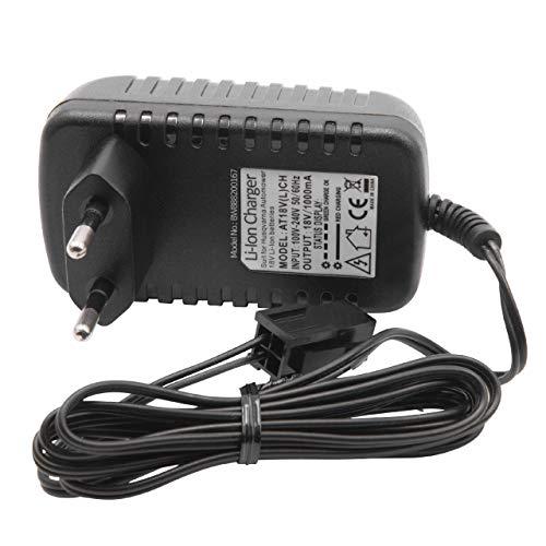vhbw Cargador Portatil Compatible con Husqvarna Automower 320, 330X, 420, 430, 430X, 440, 450X, 520 Robot Cortacesped - Baterías de Li-Ion (18V)