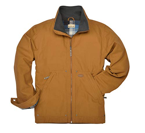 Backpacker Full Zip Canvas Jacket, Brown, Large