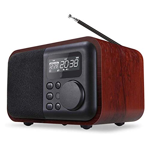MJBOY wekker Bluetooth U Disco TF Card Mini Subwoofer Retro FM-radio wekker